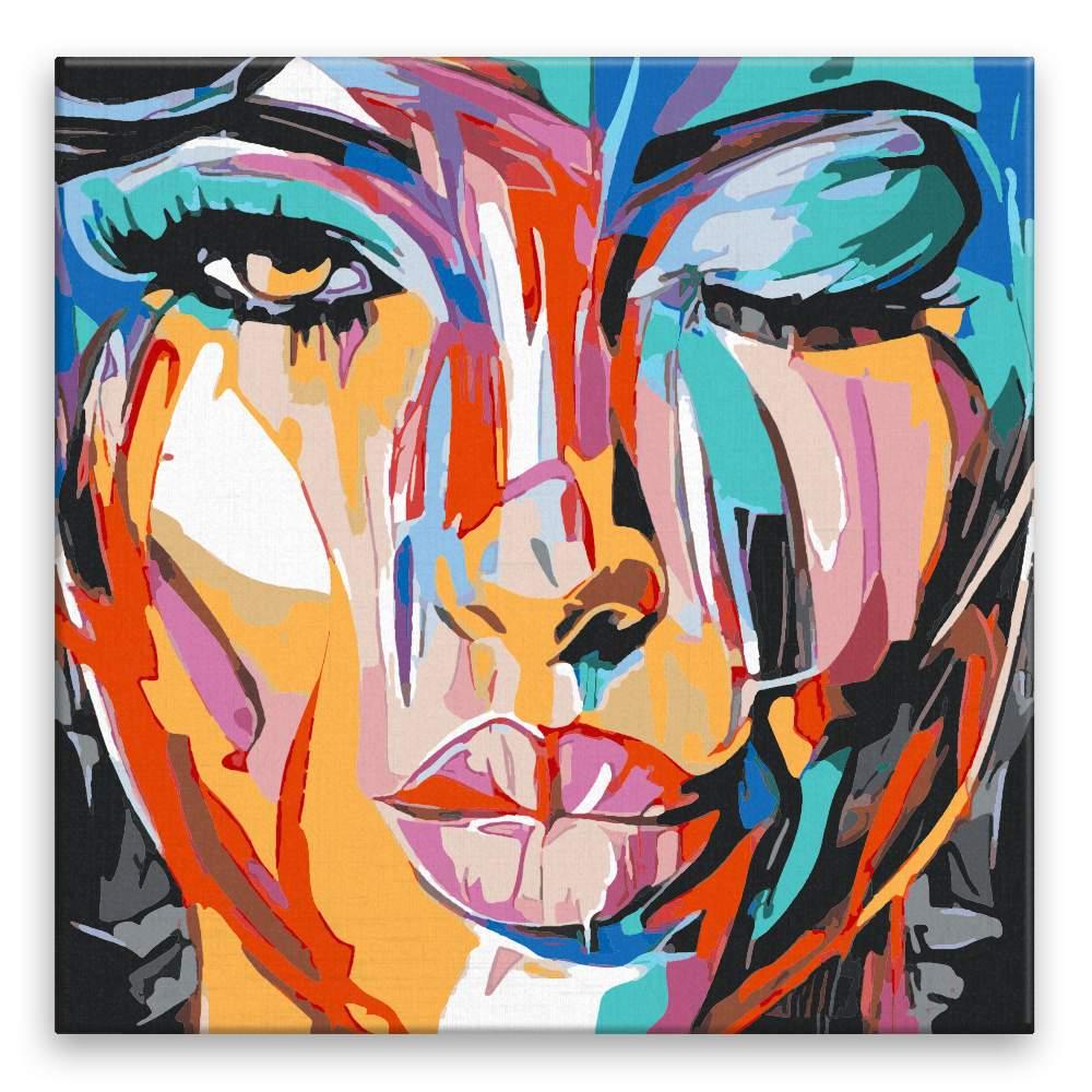 Malování podle čísel Barevná tvář