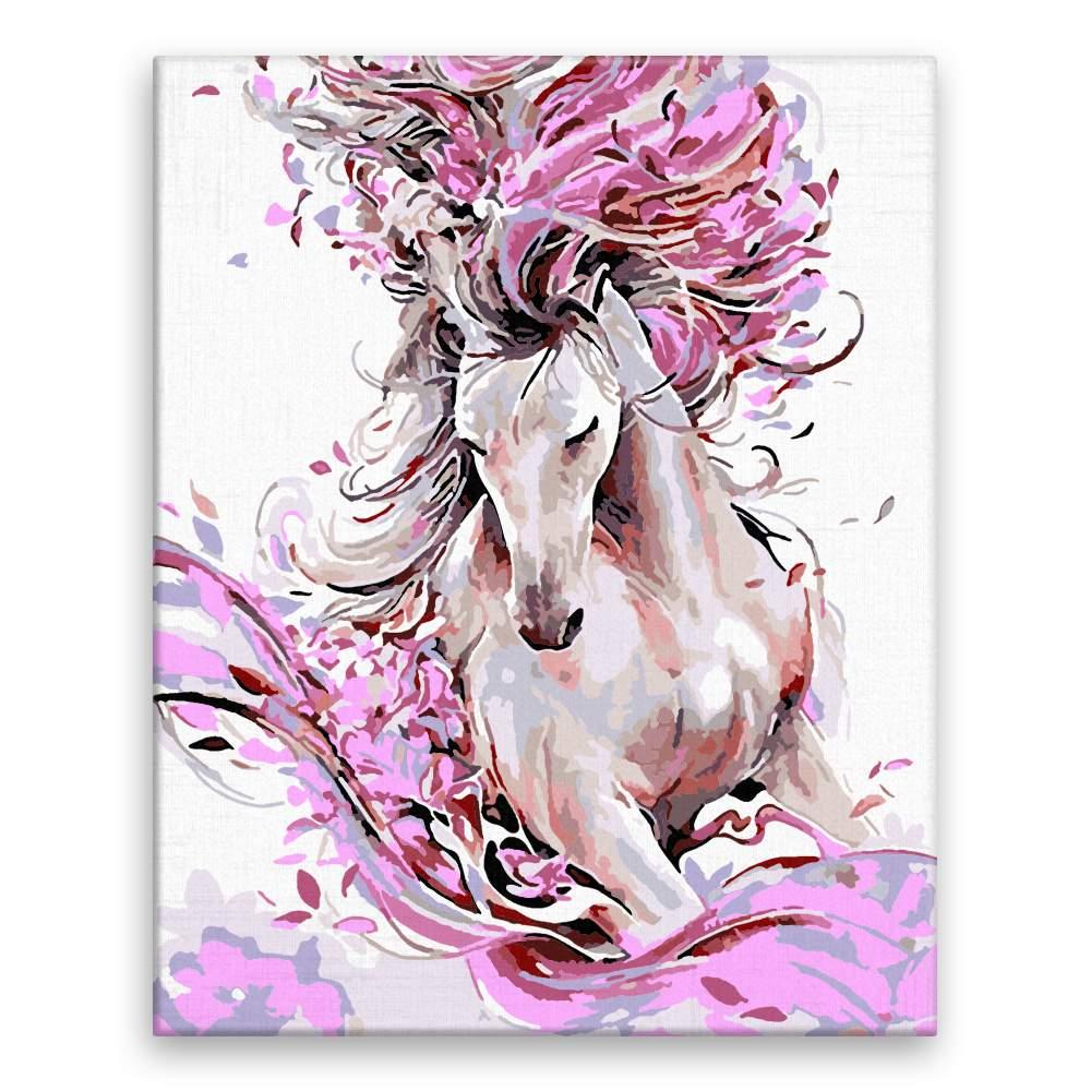 Malování podle čísel Kůň v barvách