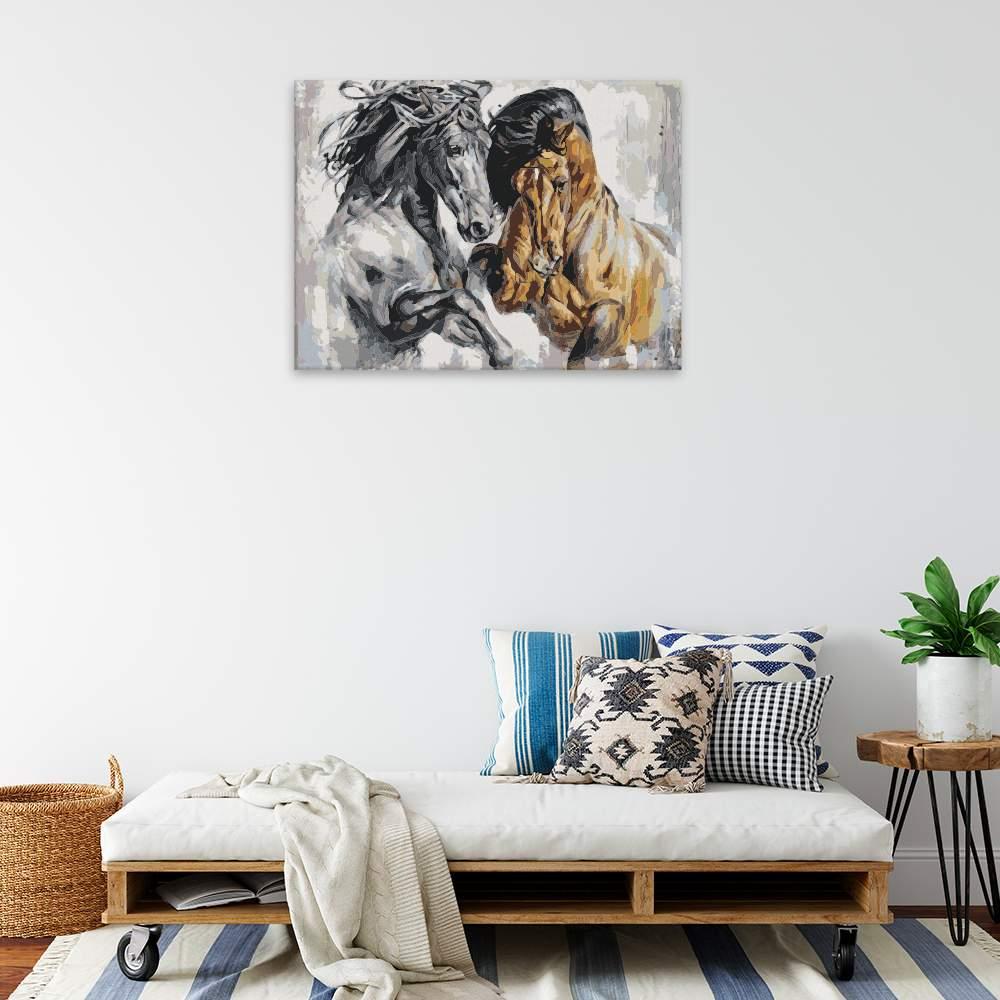 Obraz na zdi Hraví koně