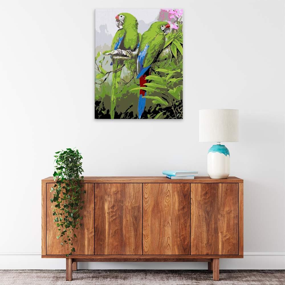 Obraz na zdi Krásní papoušci