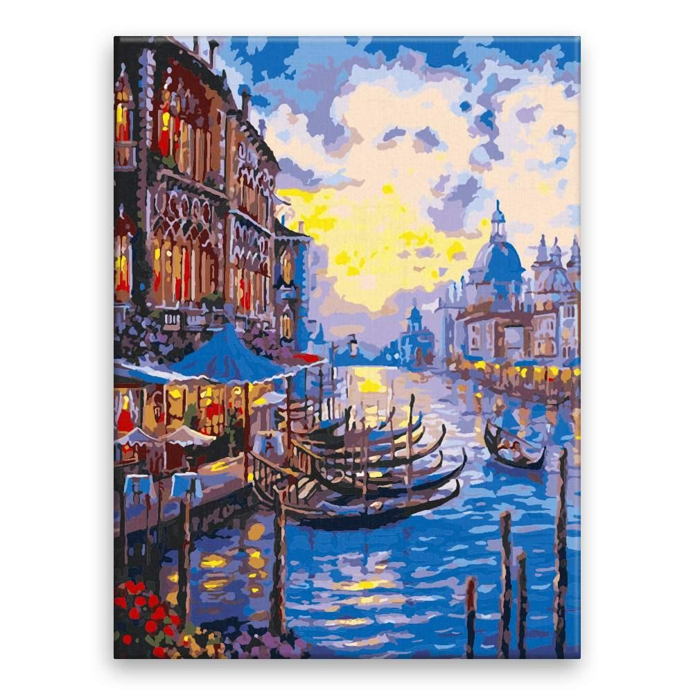 Malování podle čísel Večerní Benátky