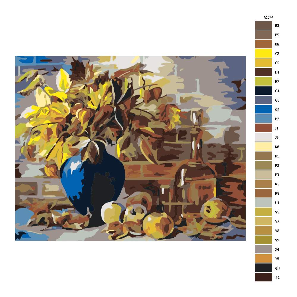 Návod pro malování podle čísel Podzimní váza