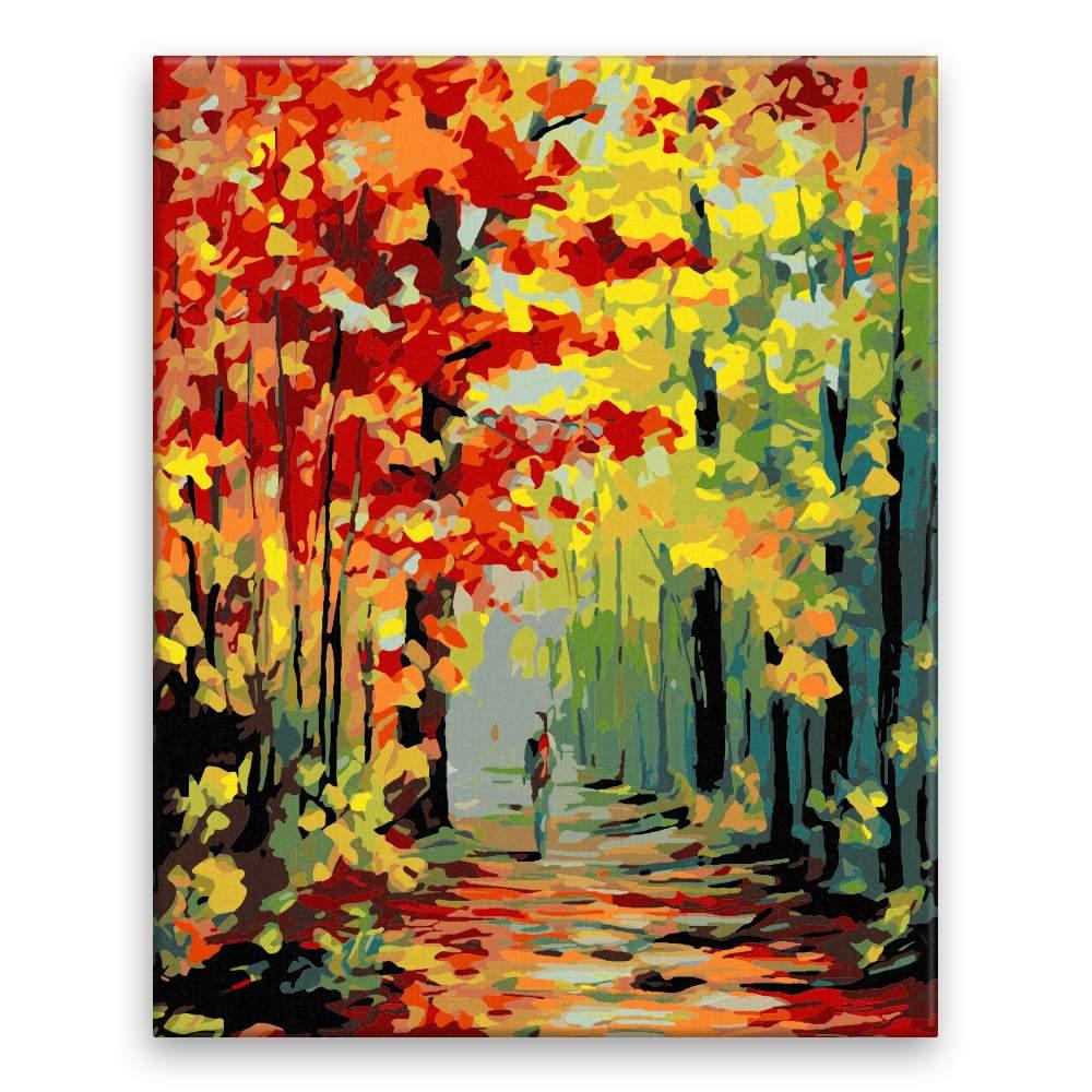 Malování podle čísel Podzimní alej