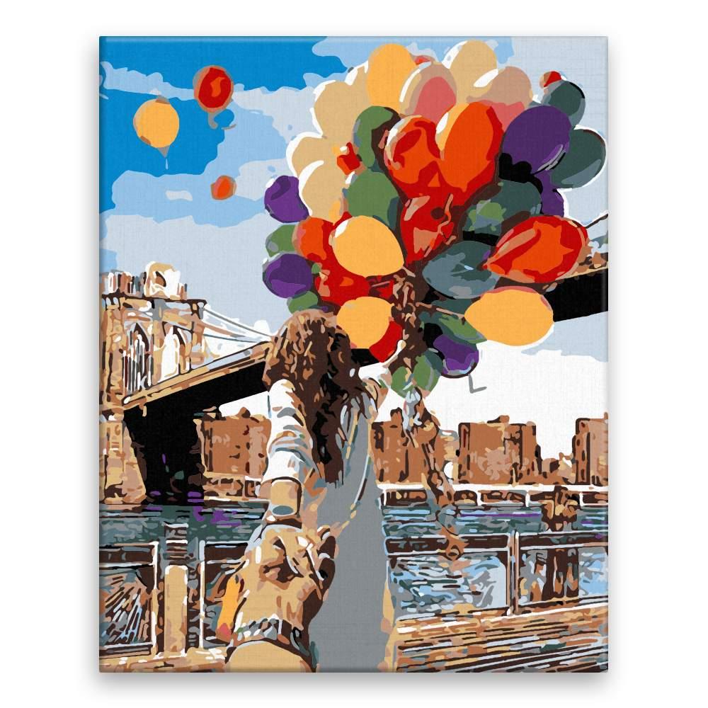 Malování podle čísel Balonky štěstí