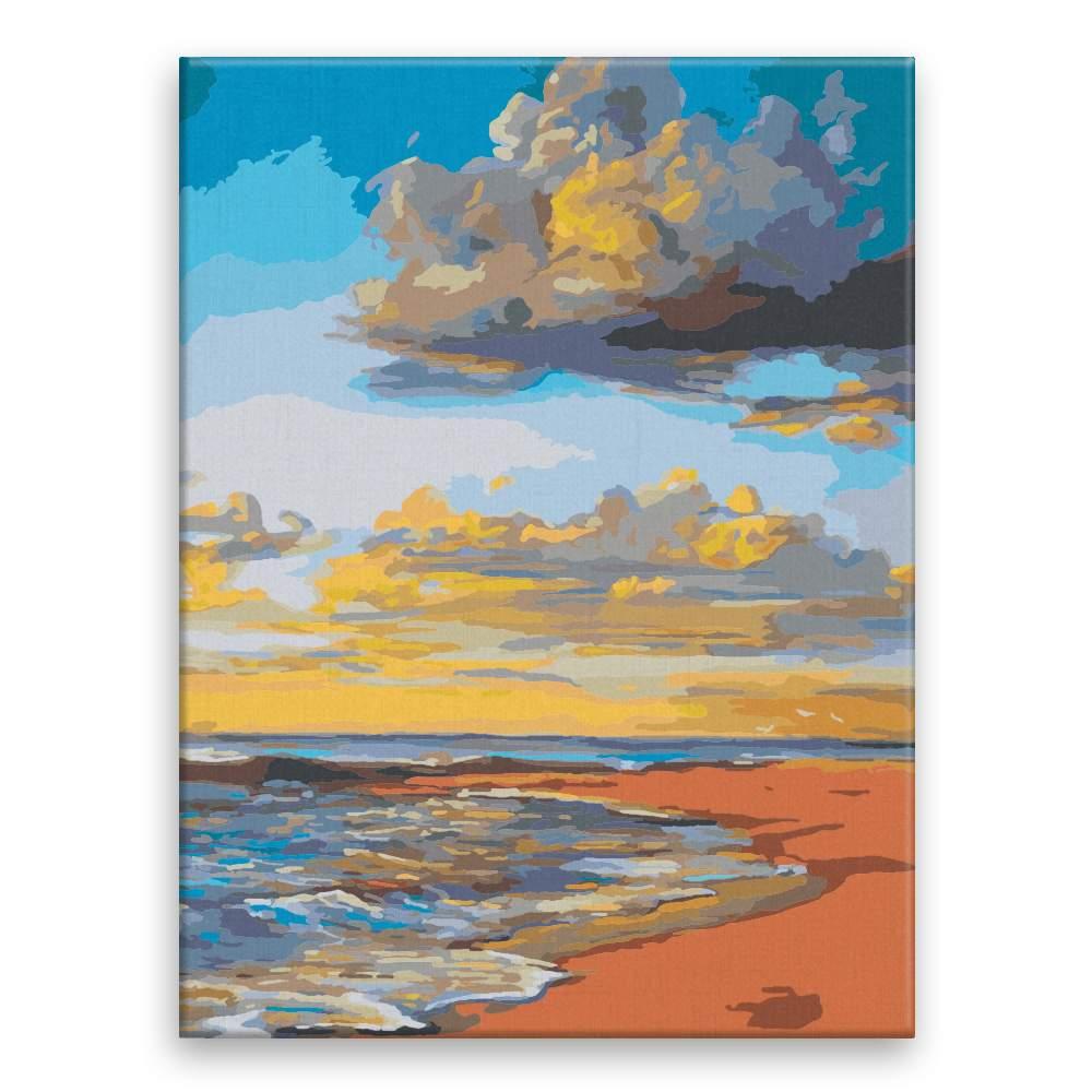 Malování podle čísel Večerní pláž