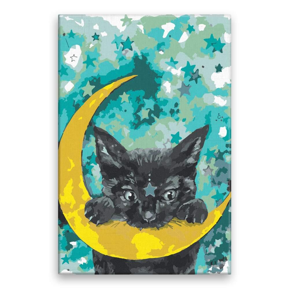 Malování podle čísel Kočka a měsíc