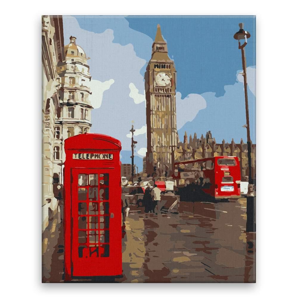 Malování podle čísel Londýnský Big Ben