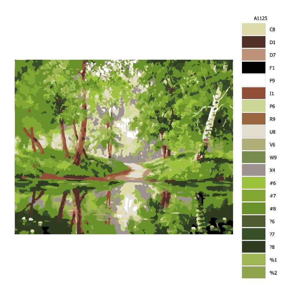 Návod pro malování podle čísel Břízoví park