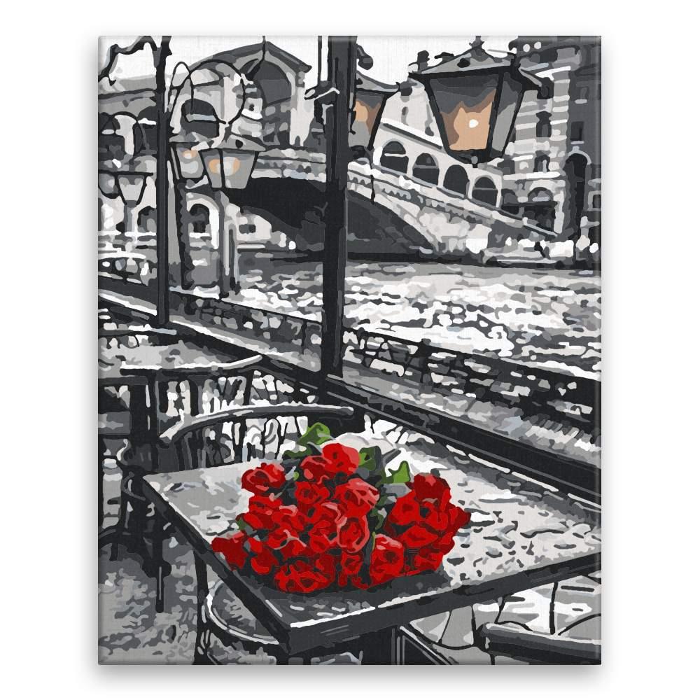 Malování podle čísel Pugét růží