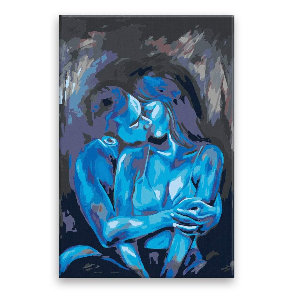 Malování podle čísel Modrá láska