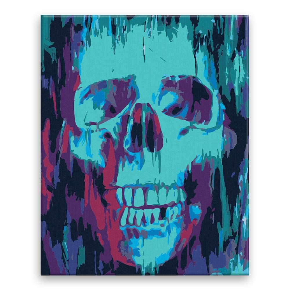 Malování podle čísel Modrá lebka