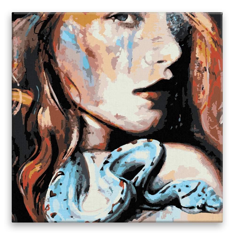 Malování podle čísel Hadí žena