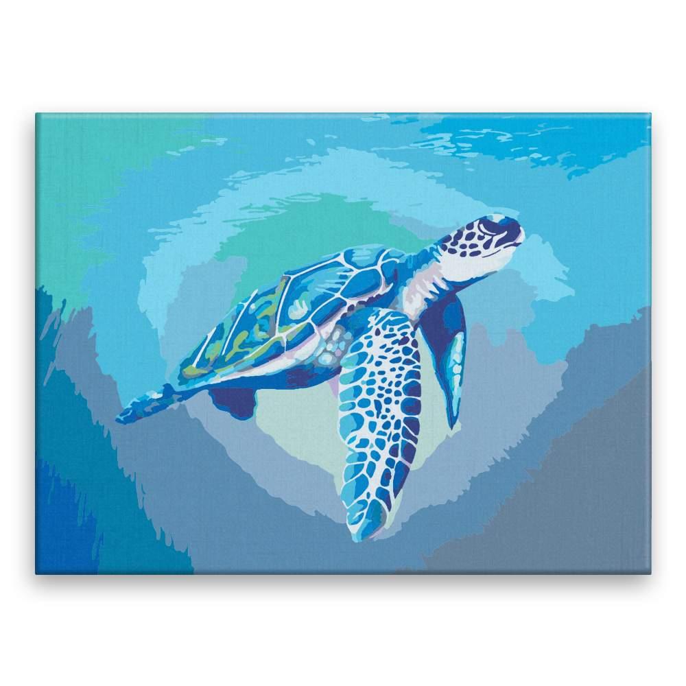 Malování podle čísel Modrá mořská želva