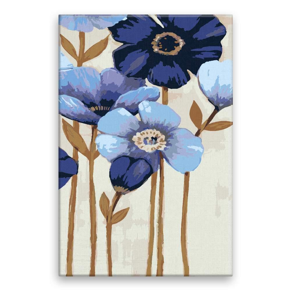 Malování podle čísel Modré květy