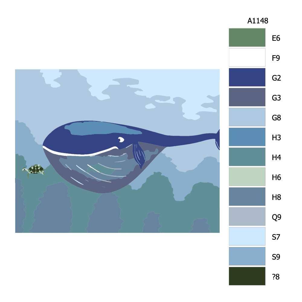 Návod pro malování podle čísel Verliba a želva