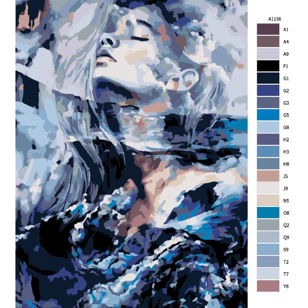 Návod pro malování podle čísel Zasněná v moři