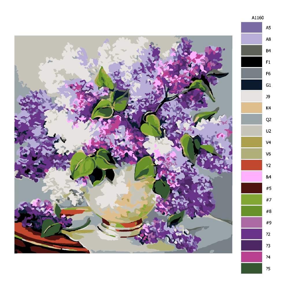 Malování podle čísel Váza šeříků
