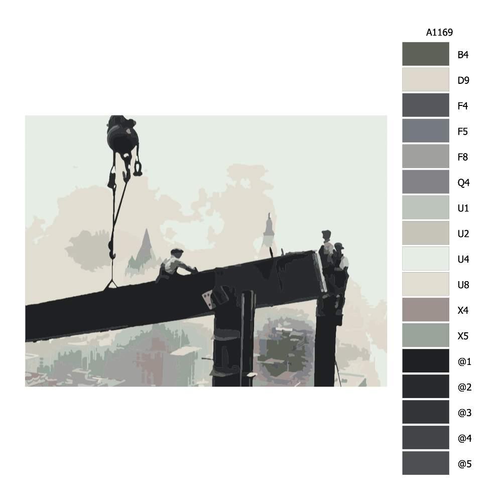 Návod pro malování podle čísel Dělníci