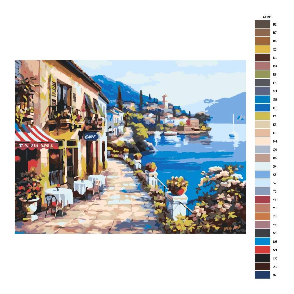 Malování podle čísel Přímořská kavárna