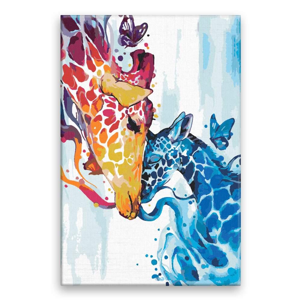 Malování podle čísel Žirafí láska