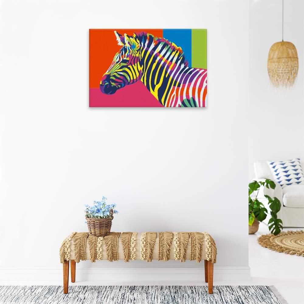 Malování podle čísel Zebra v barvách