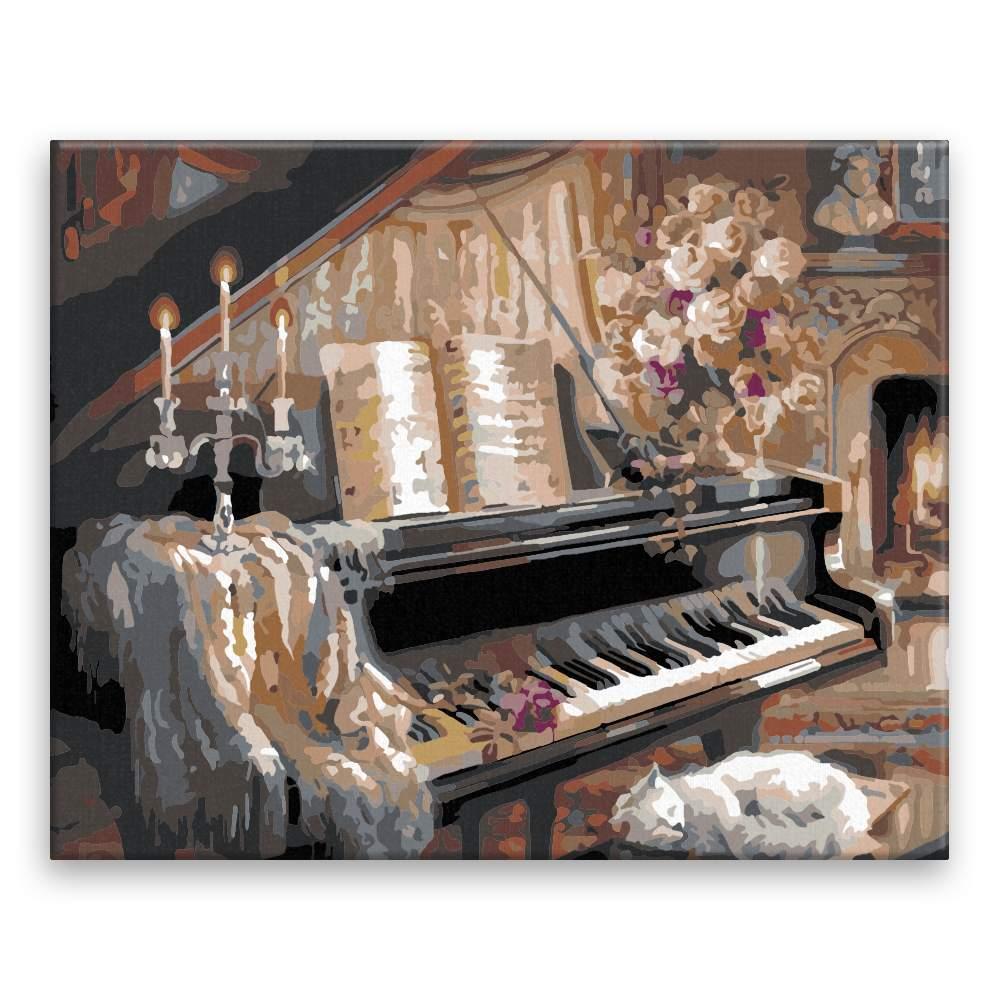 Malování podle čísel Večer u piána
