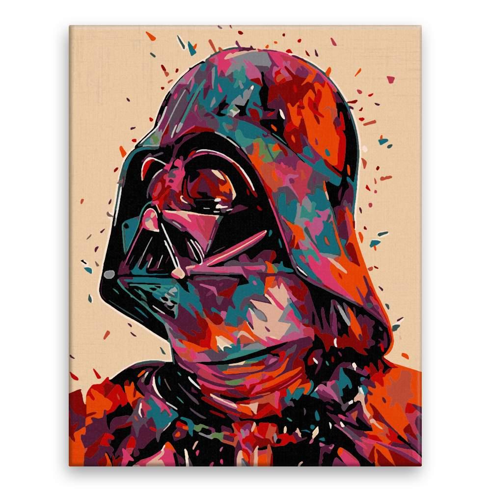 Malování podle čísel Darth Vader v barvách