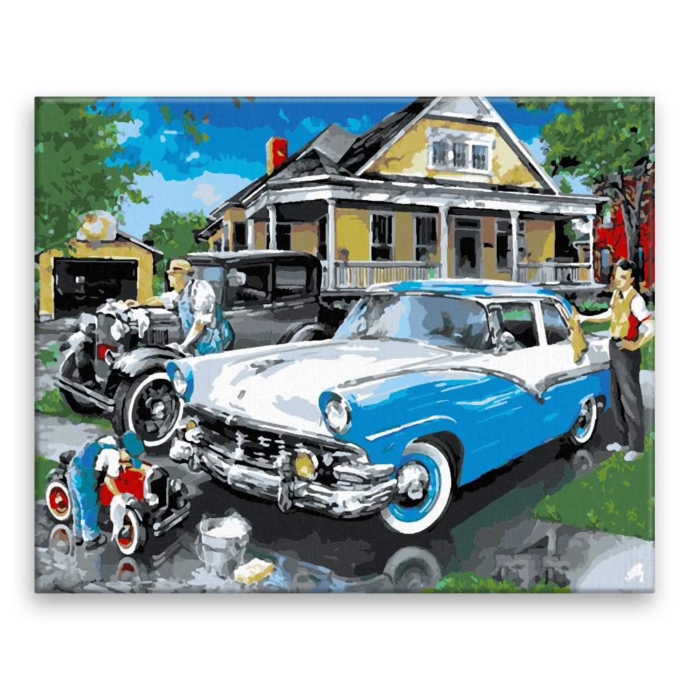 Malování podle čísel Mytí auta