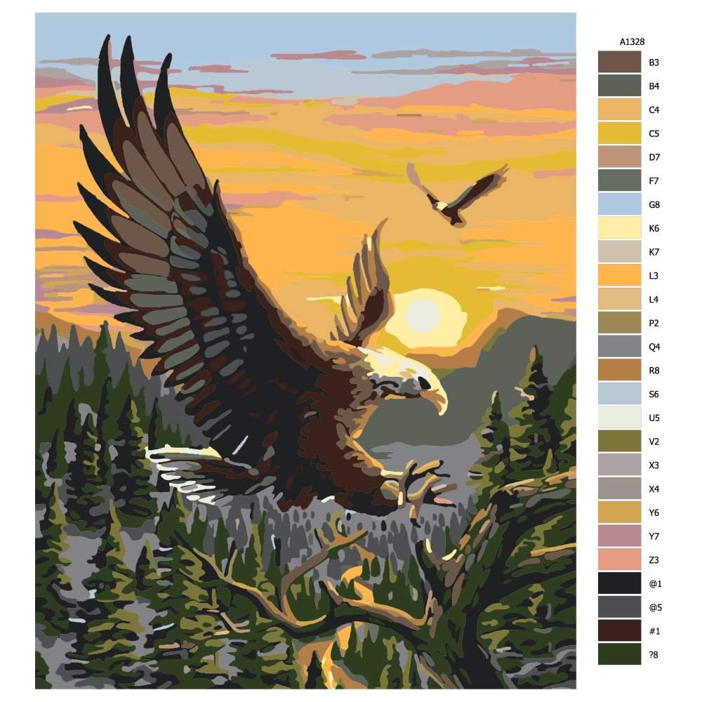 Malování podle čísel Orlí rozpětí