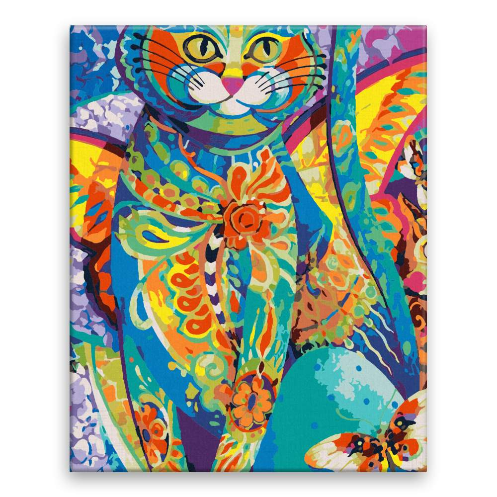 Malování podle čísel Kočka v kroji