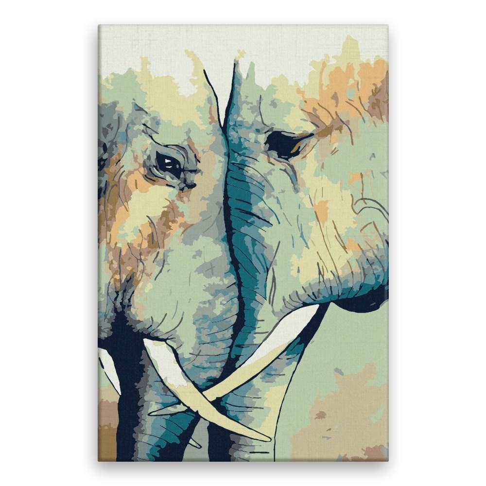 Malování podle čísel Sloní láska