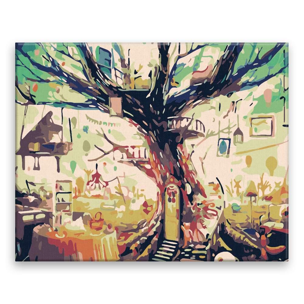 Malování podle čísel Stromový dům