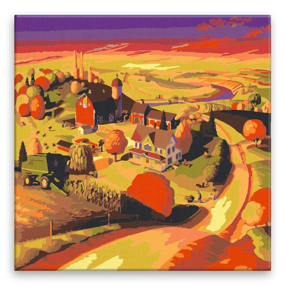 Malování podle čísel Podzim na farmě