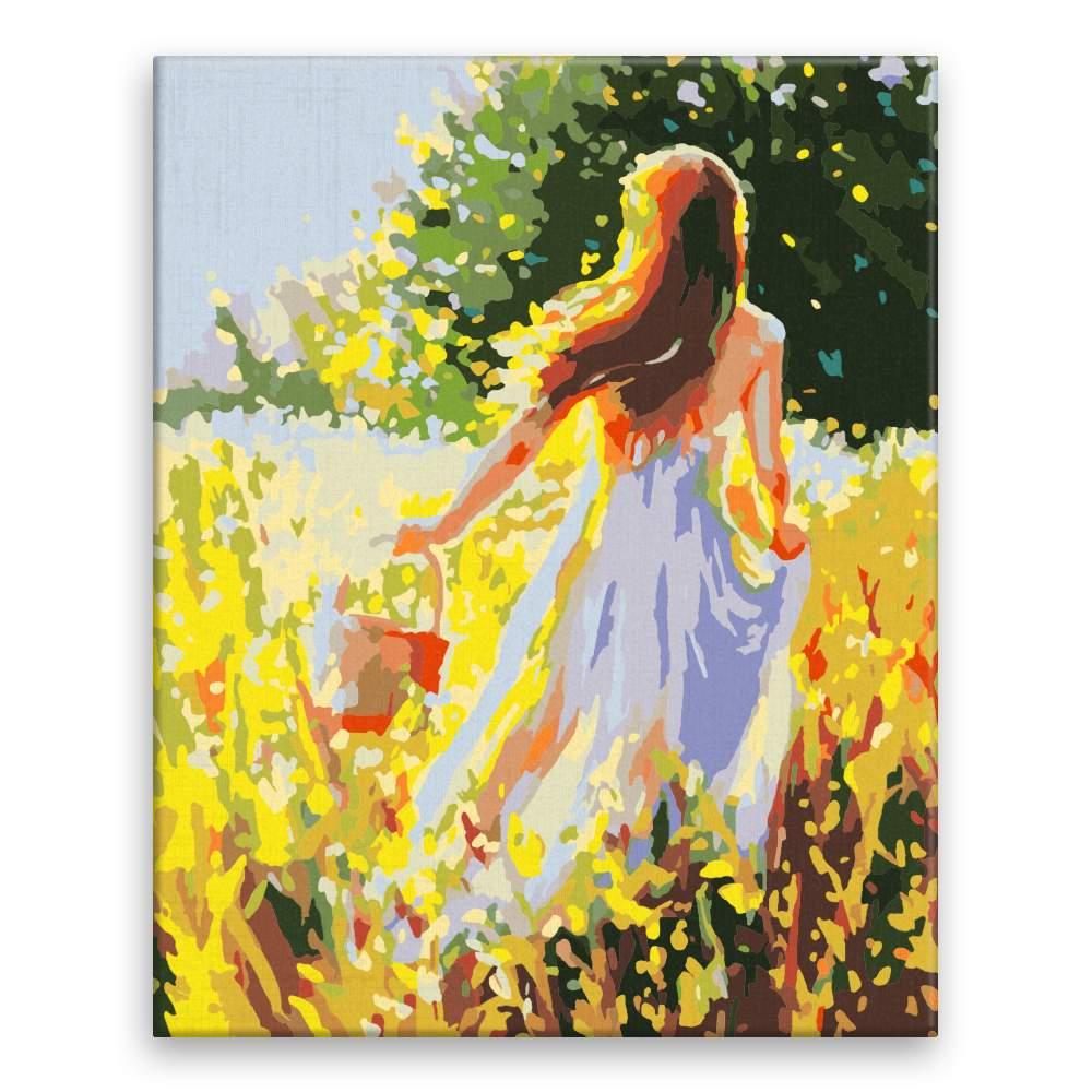 Malování podle čísel Dívka na sběru