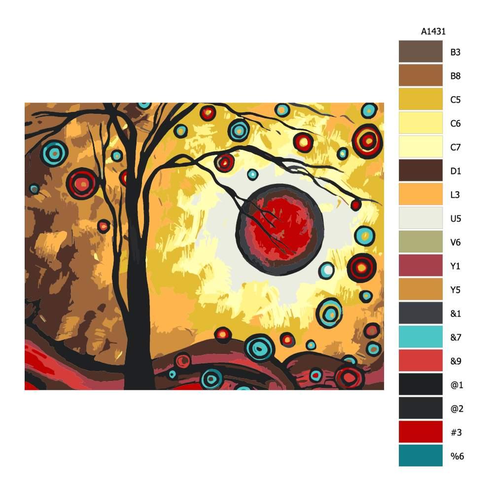Návod pro malování podle čísel Radost ze svobody