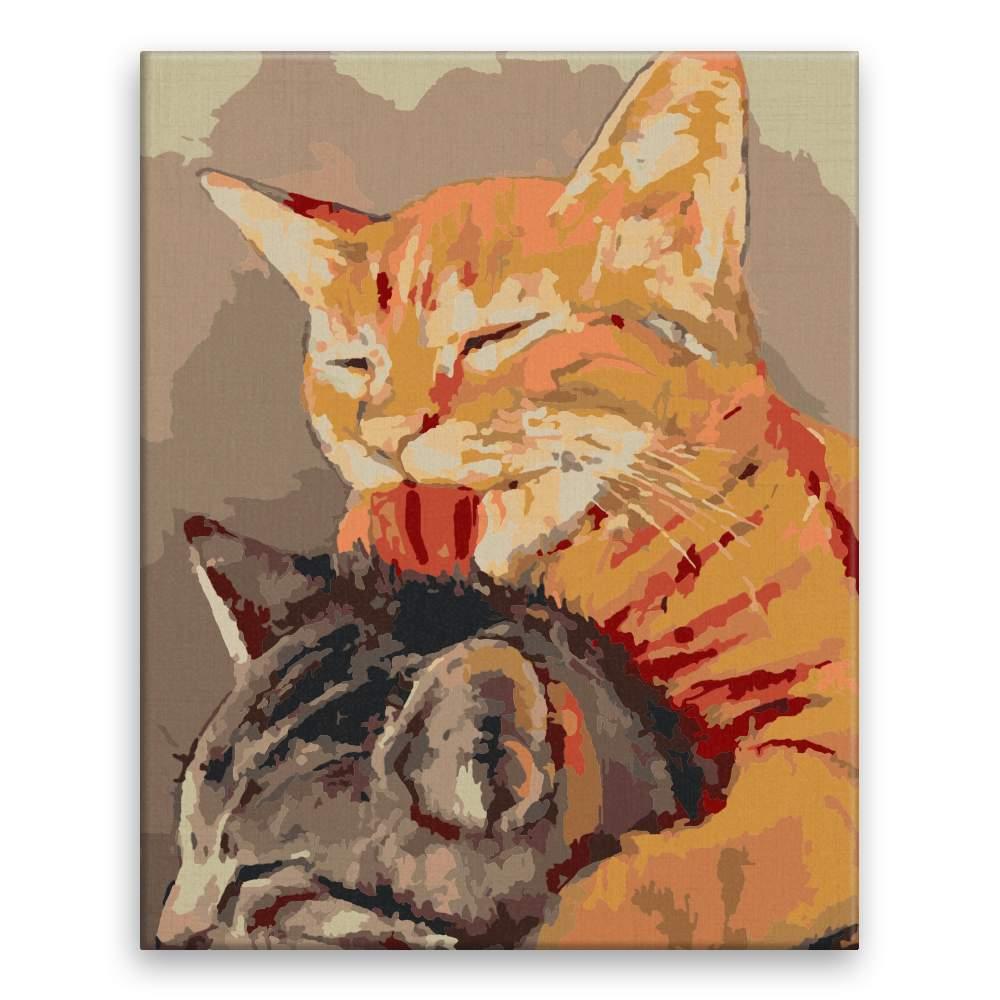 Malování podle čísel Kočičí přátelství