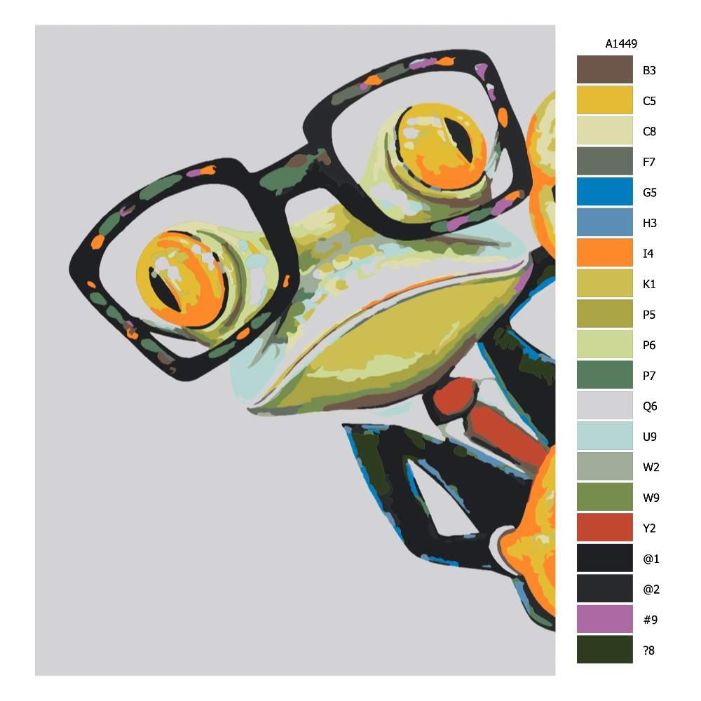 Návod pro malování podle čísel Kancelářský žabák