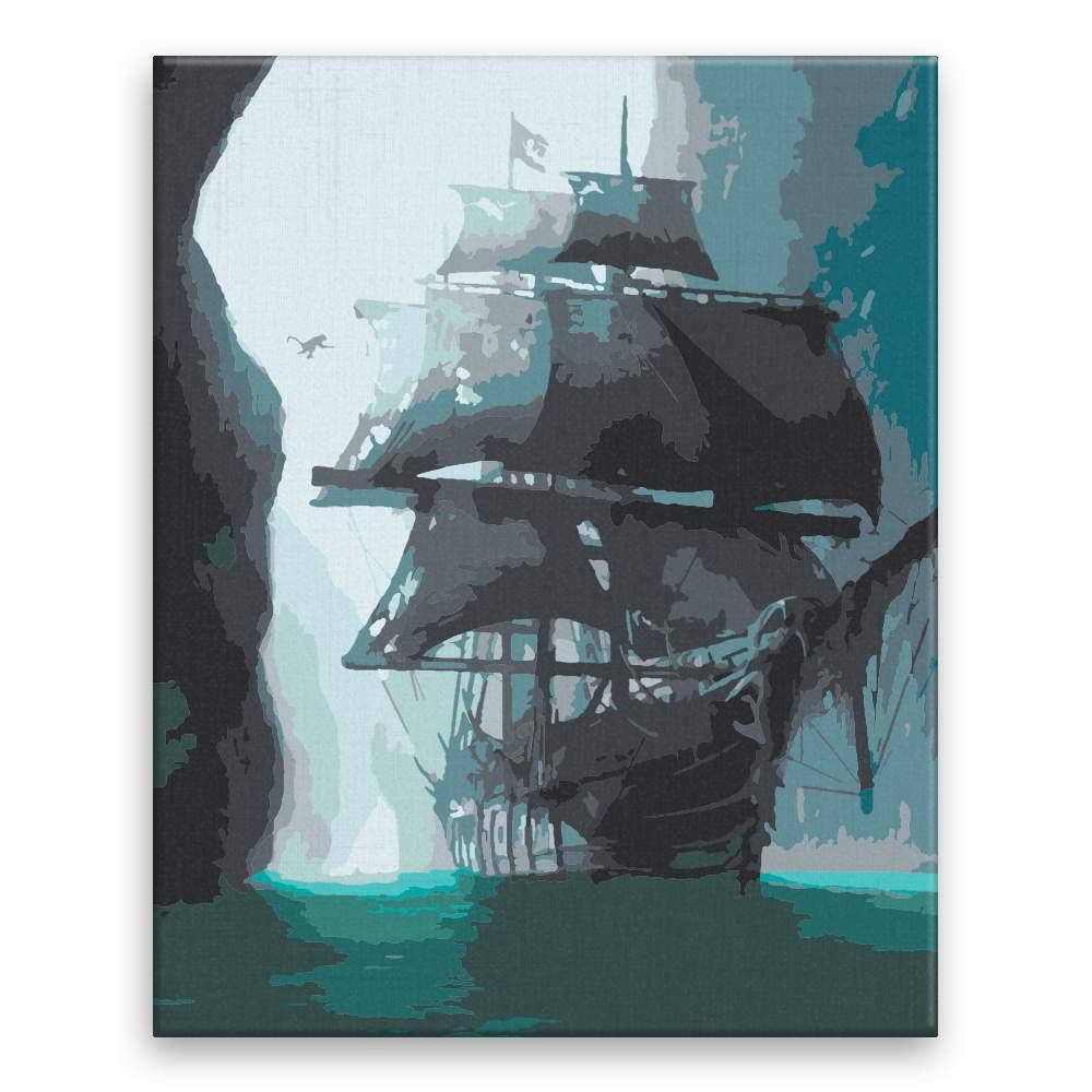Malování podle čísel Loď duchů