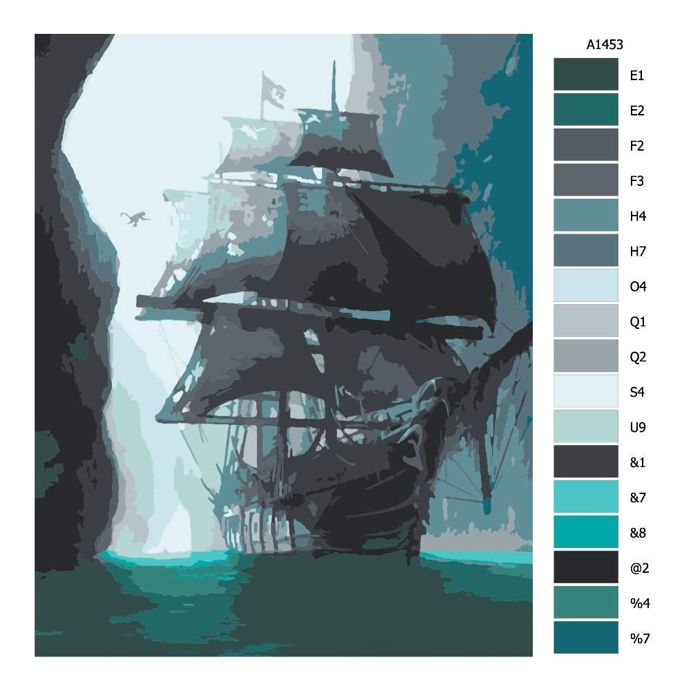 Návod pro malování podle čísel Loď duchů