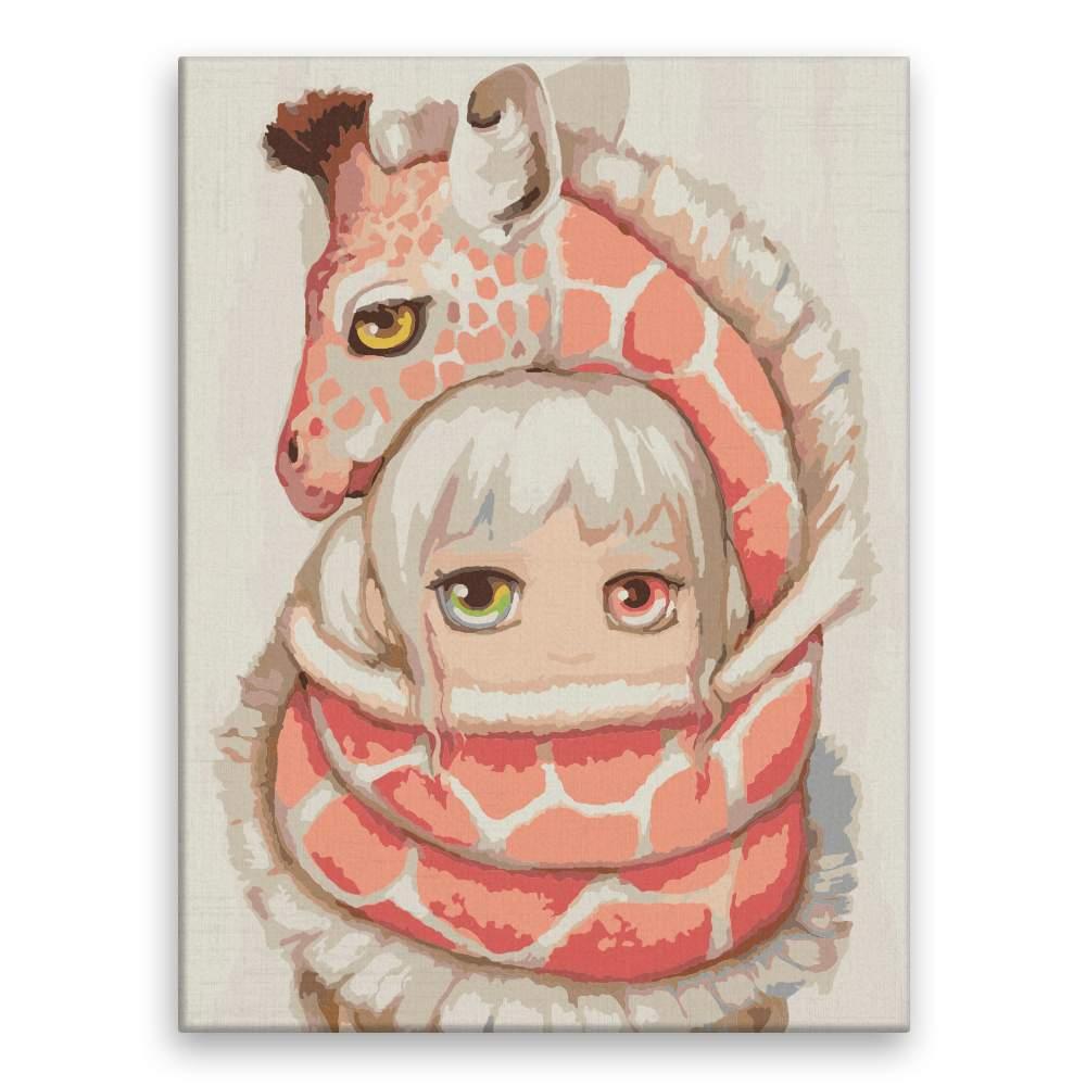 Malování podle čísel V objetí žirafy