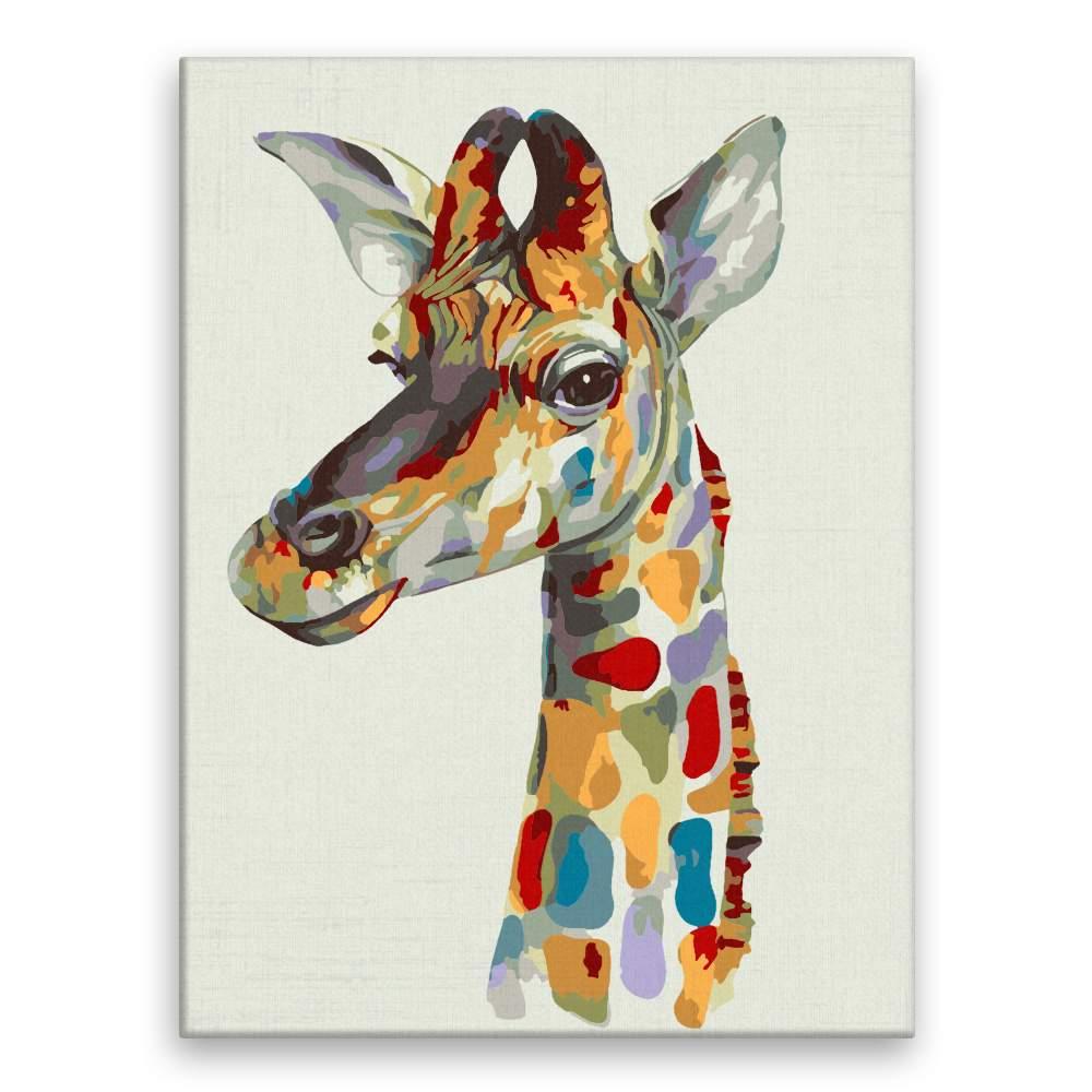 Malování podle čísel Pohled žirafy