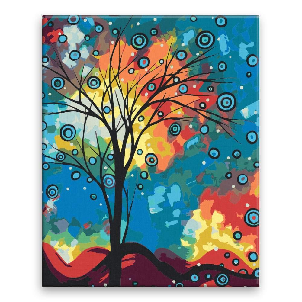 Malování podle čísel Pozdrav z oblak