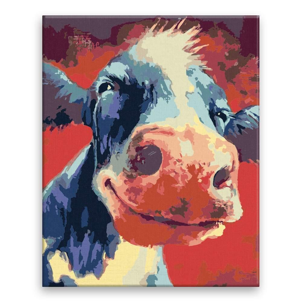 Malování podle čísel Sťastná kráva