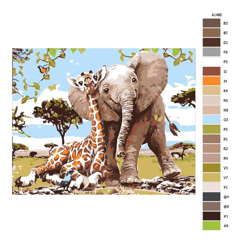 Návod pro malování podle čísel Šťastná sahara