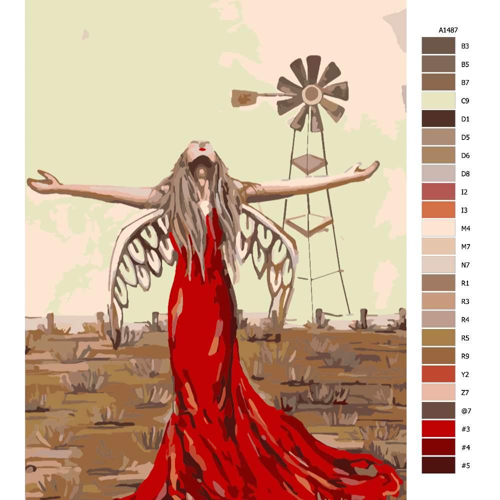 Návod pro malování podle čísel Boží mlýny