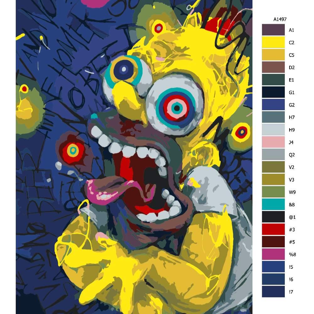 Návod pro malování podle čísel Homer