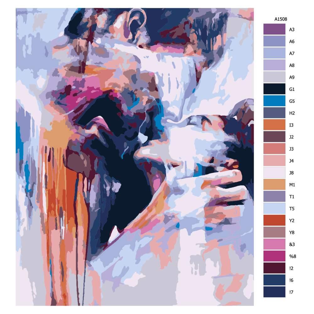 Návod pro malování podle čísel V objetí