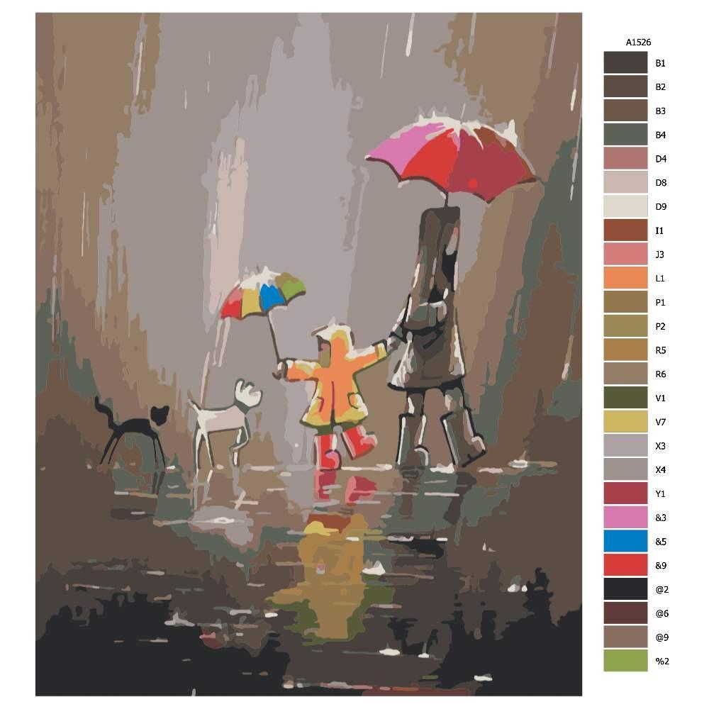 Návod pro malování podle čísel V nečase na procházce