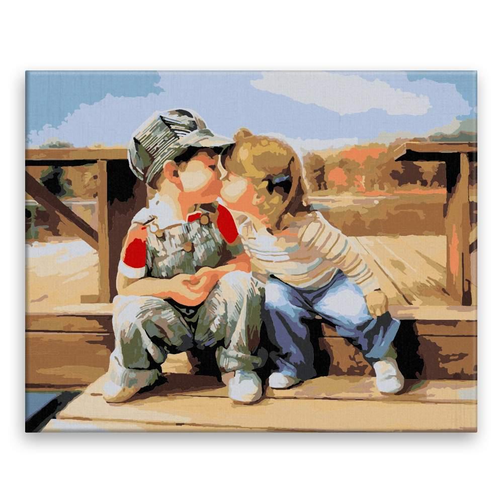 Malování podle čísel Dětská láska