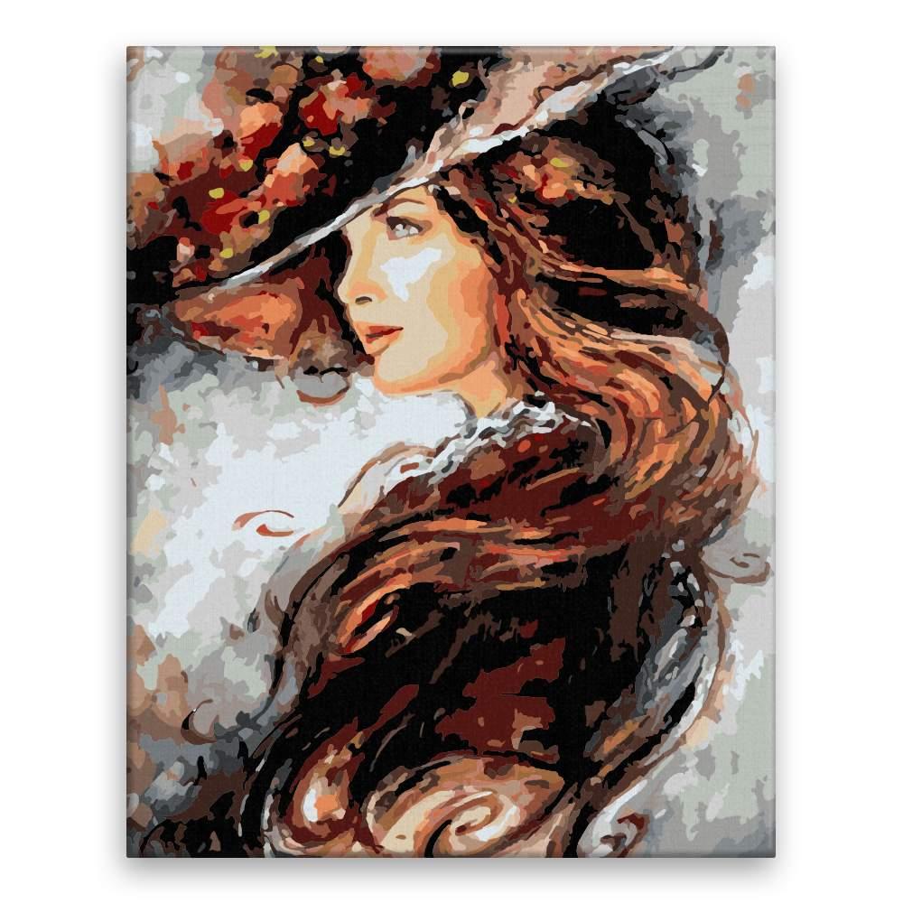 Malování podle čísel Rytířská dáma